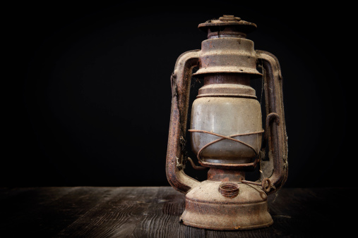 Old oil lamp