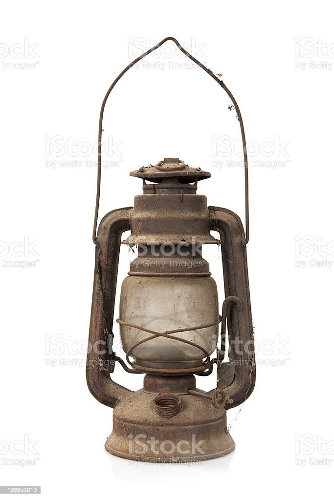 Old oil lamp royalty-free stock photo