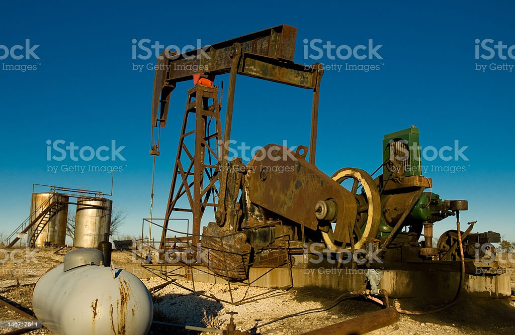 Old oil rig royalty-free stock photo