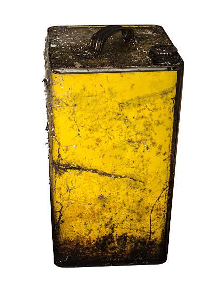 Old lata de petróleo - foto de stock
