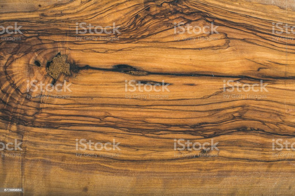 Old olive wood slab texture or background stock photo