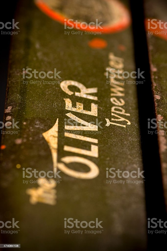 Old Oliver typewriter stock photo