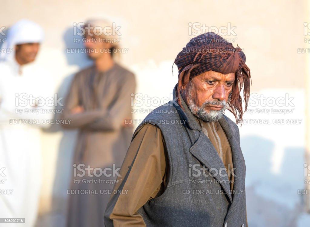 old omani man at a market stock photo
