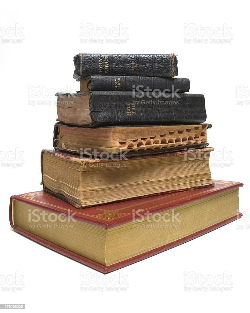 Old on New Bibles stock photo
