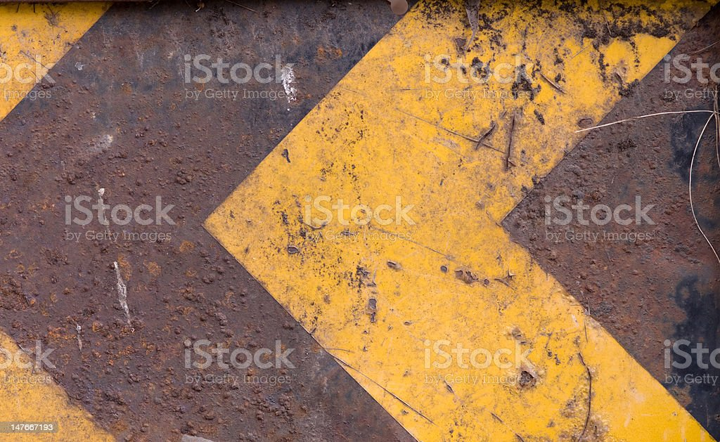 Old one-way road sign royalty-free stock photo
