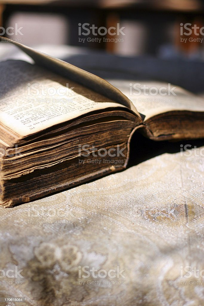 Old Open Bible stock photo