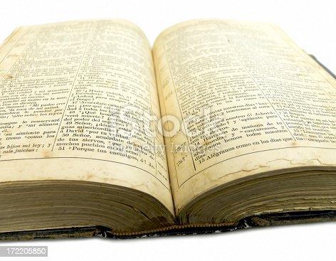 istock Old open bible 172205850