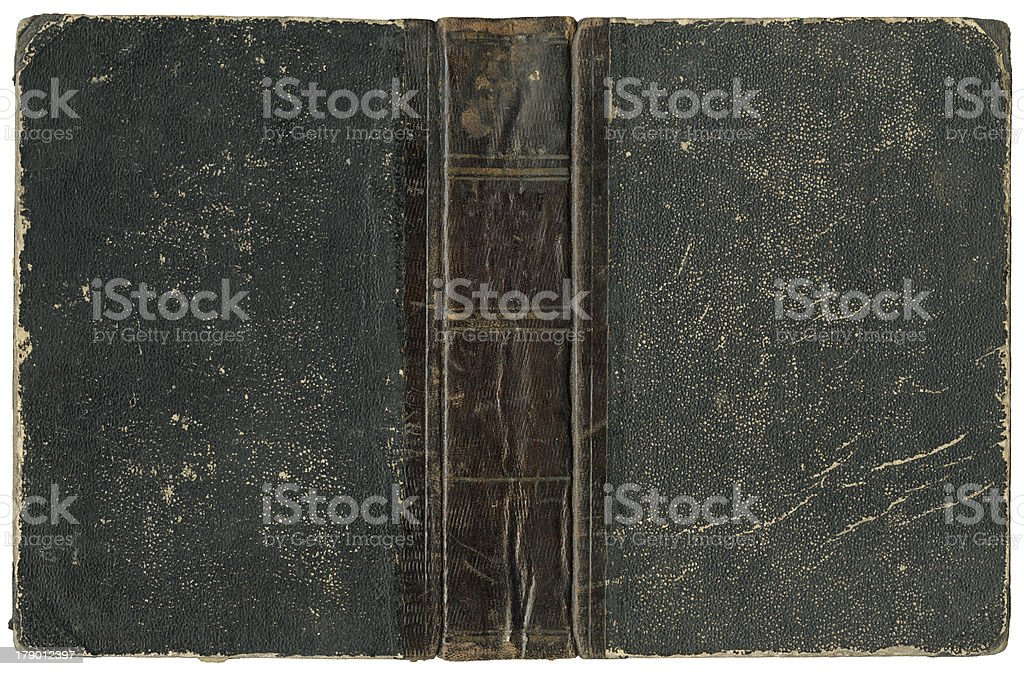 Old open book 1875 stock photo