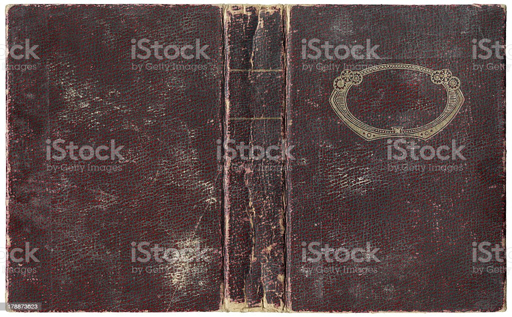 Old open book 1918 stock photo