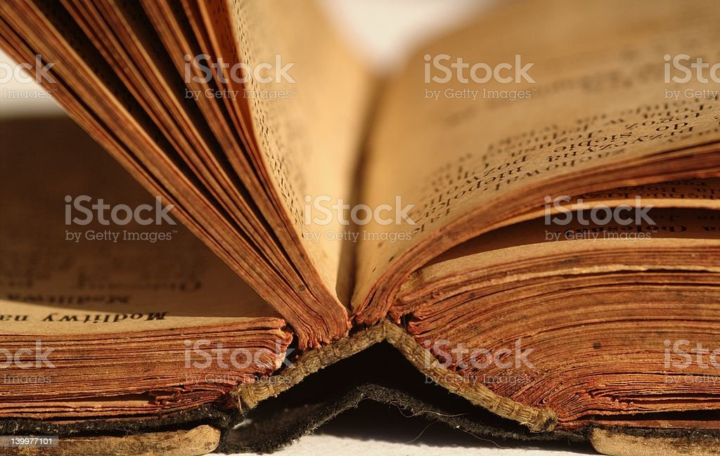 Old open book royalty-free stock photo