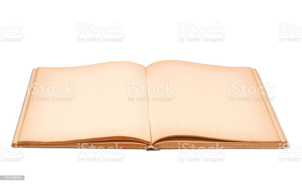 Old open note pad royalty-free stock photo