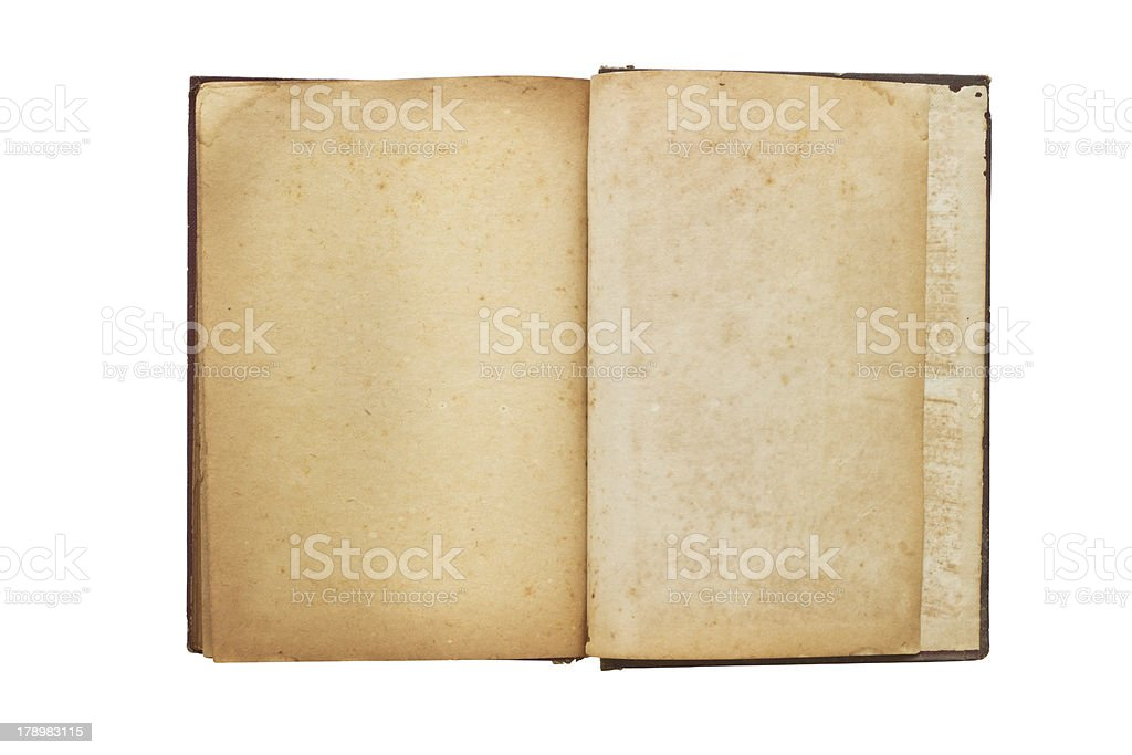Old opened book with blank pages royalty-free stock photo