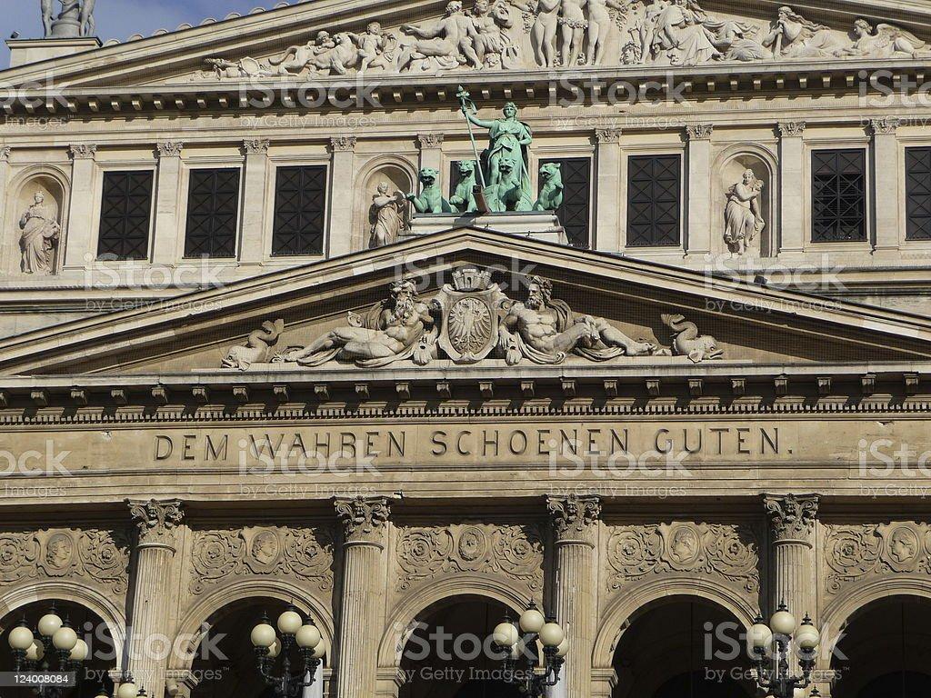 Old Opera Frankfurt royalty-free stock photo