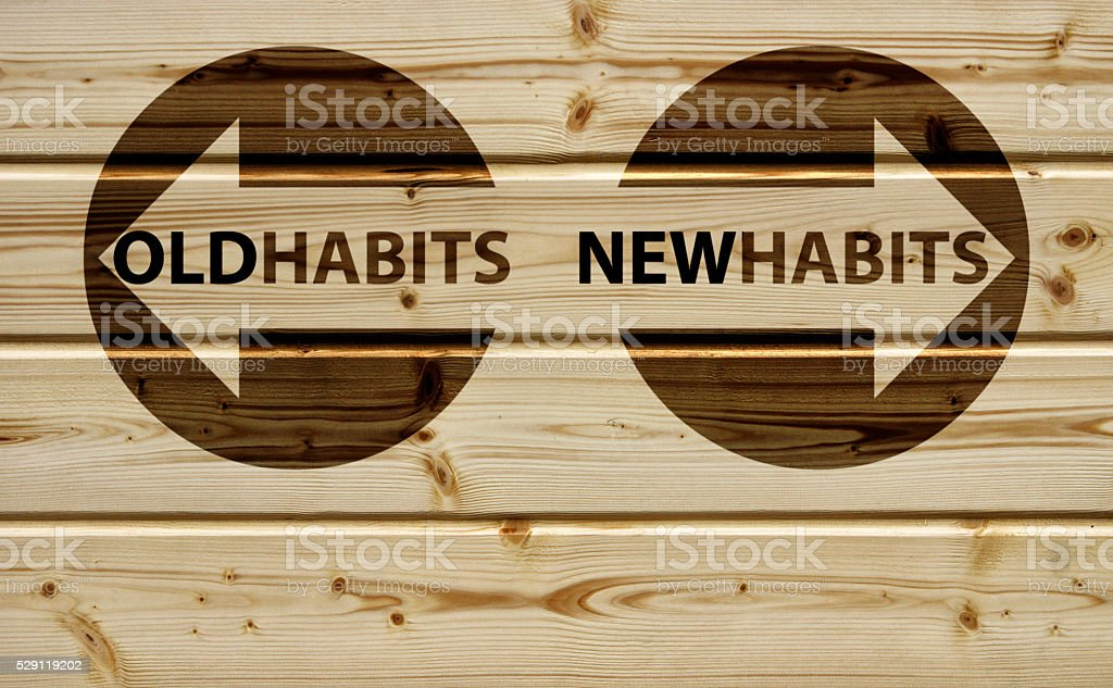 old or new habits stock photo