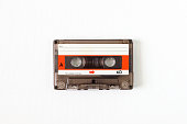 Old or nostalgic tape cassette. isolated and cleaned