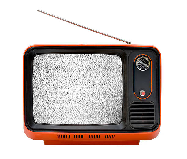 Old orange television with interruption http://www1.istockphoto.com/generic_image_view/31041/31041 portable television stock pictures, royalty-free photos & images