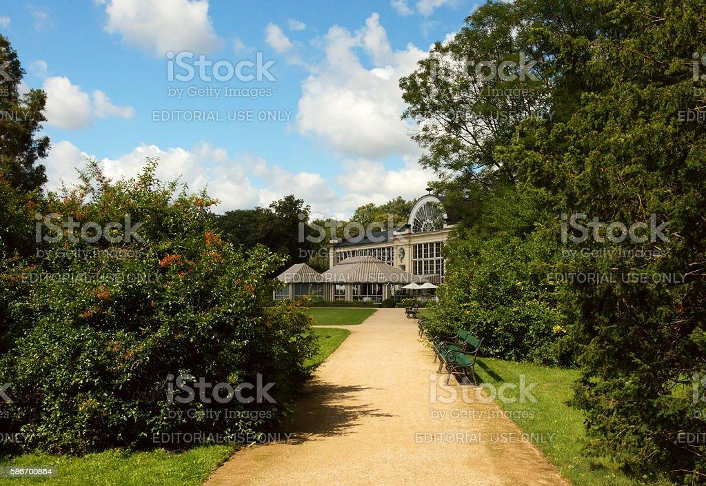 Old Orangery in Lazienki Royal Park stock photo