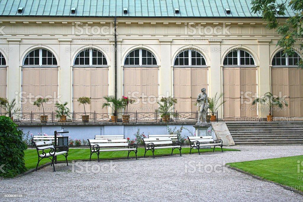 Old Orangery in Warsaw stock photo
