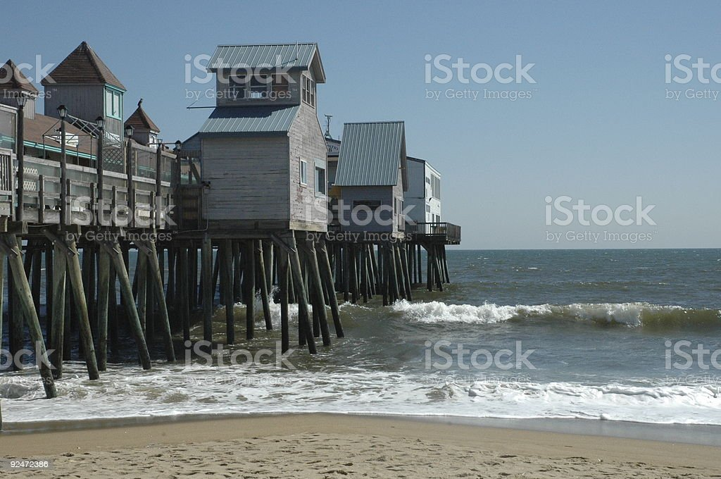 Old Orchard Beach Pier royalty-free stock photo