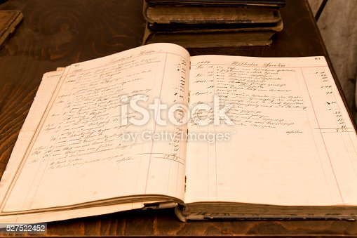 Open order book of a blacksmith from 1909, beautiful handwriting. Order and cost for metal work sorted by months and day.