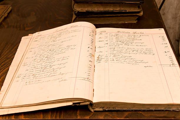 Viejo Libro de pedidos de 1909 - foto de stock