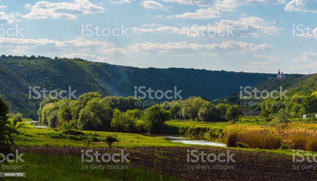 Oude Orhei (Vechi) bekende reisbestemming in Moldavië - Royalty-free Aan de kant van Stockfoto