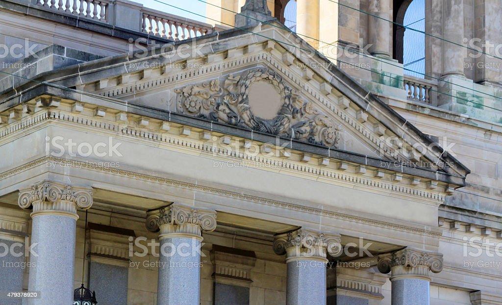 Old Ornate Building, Wichita Kansas stock photo