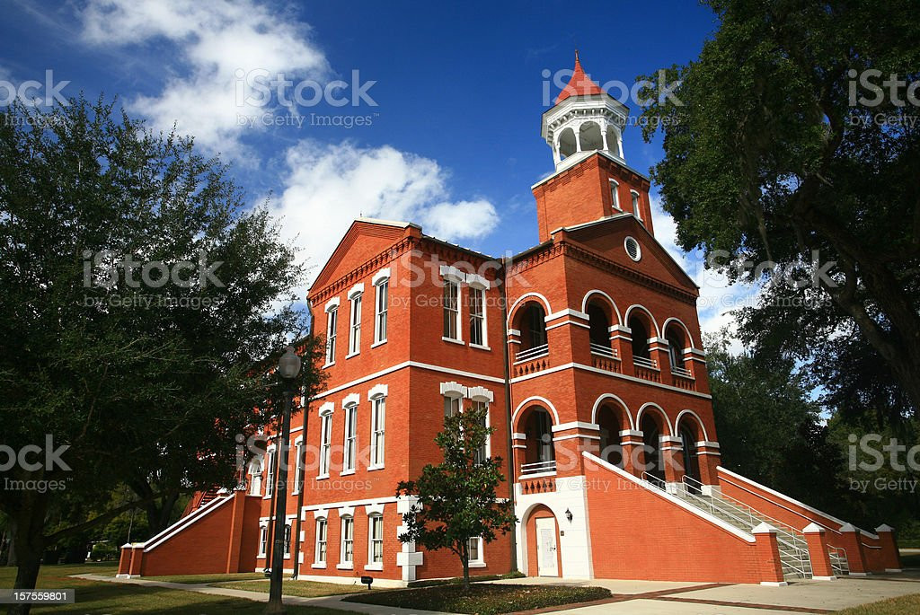 Old Osceola Courthouse in Kissimmee Florida stock photo
