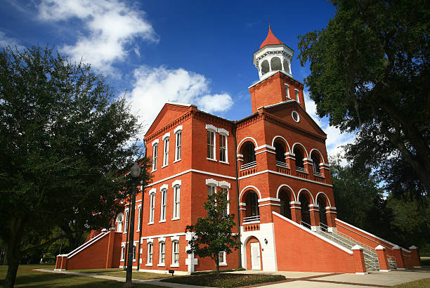 old osceola courthouse in kissimmee florida - kissimmee stock photos and pictures