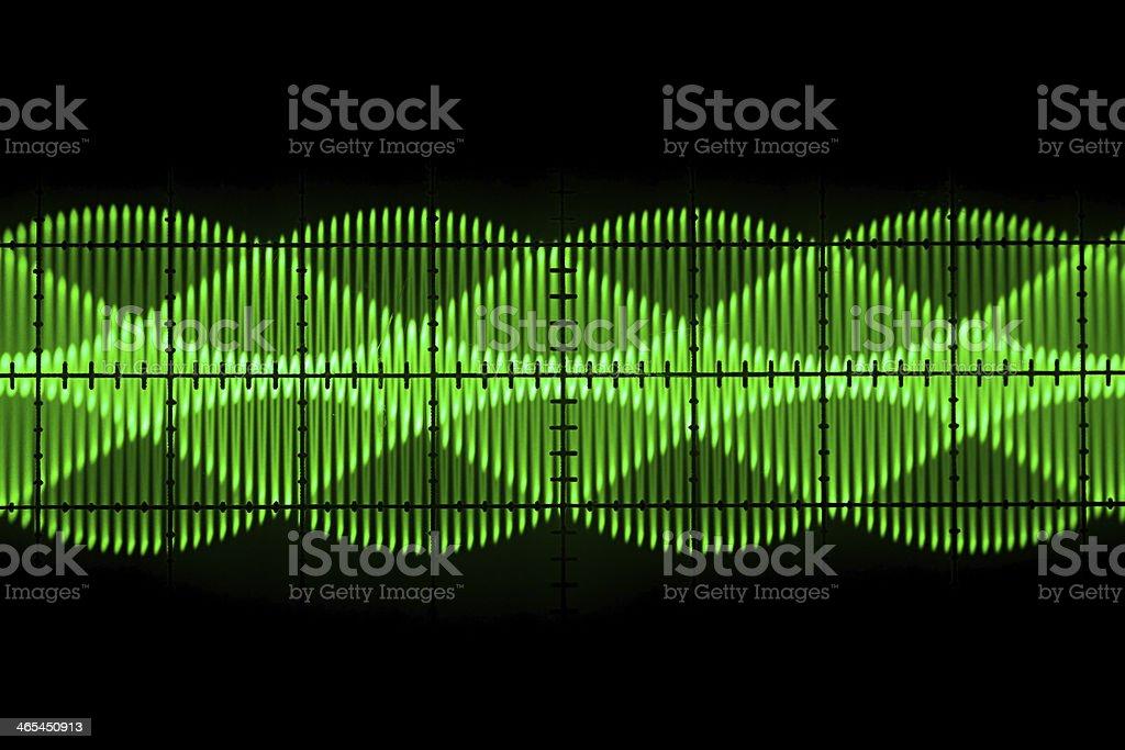Old oscilloscope  screen stock photo