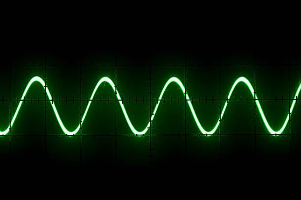 old oszilloskop bildschirm - frequenz stock-fotos und bilder