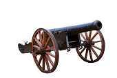 Old ottoman cannon On the white background ready to be used for photomontages
