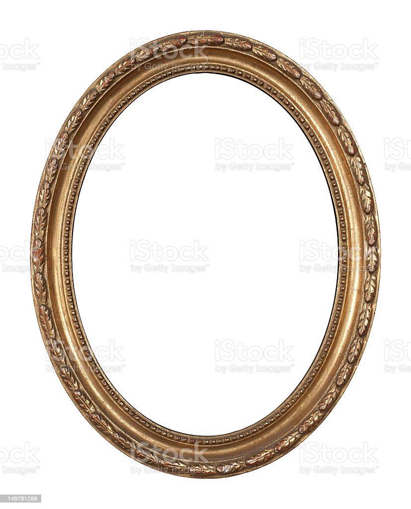 Fotografía de Old Ovalados Golden Inlayed Marco De Madera y más ...