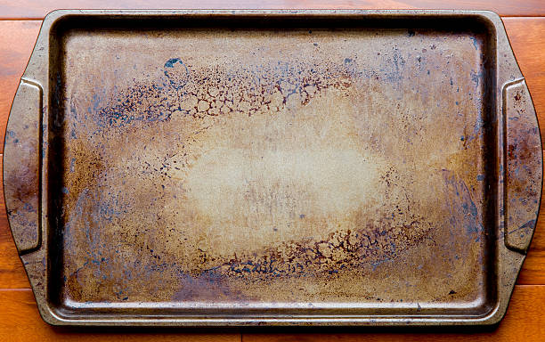 old oven baking tray - bakplåt bildbanksfoton och bilder