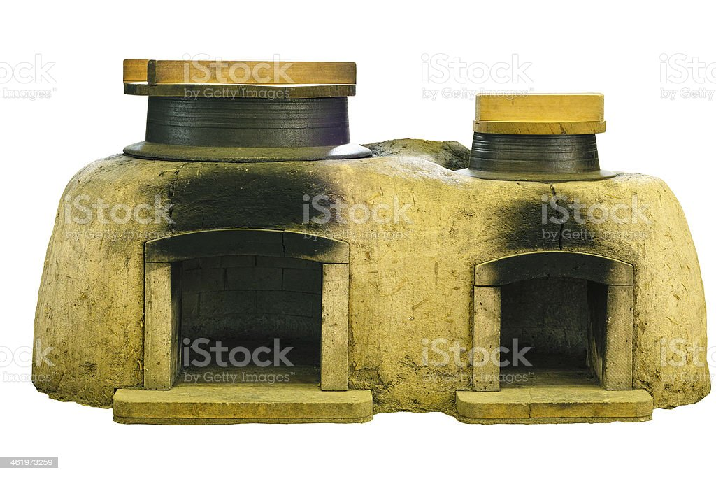 Old ovens in Japan stock photo
