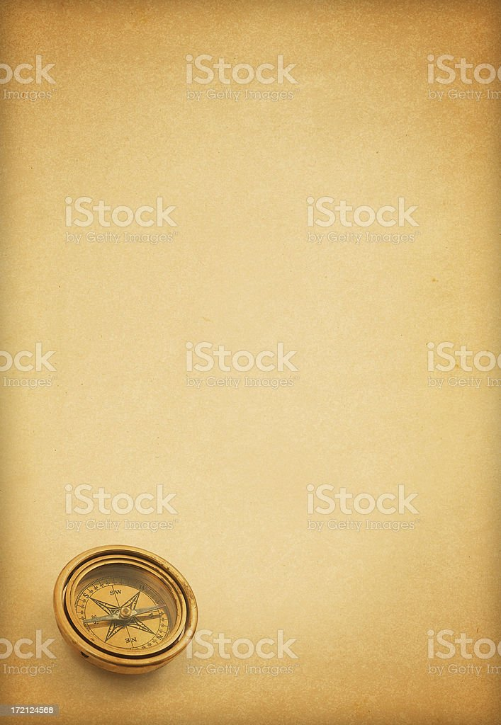 Old Page and Compass royalty-free stock photo