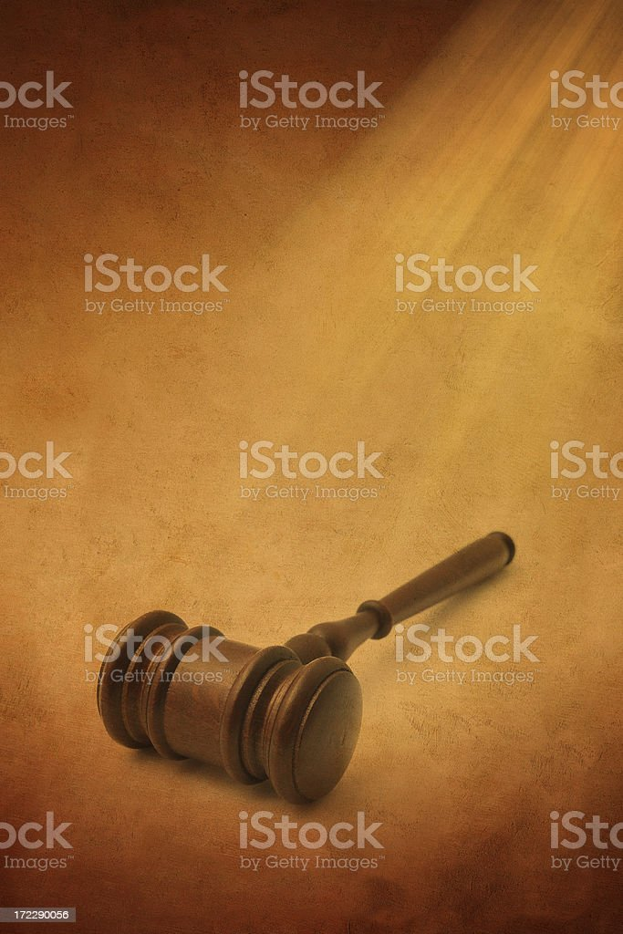 Old Page and Gavel royalty-free stock photo