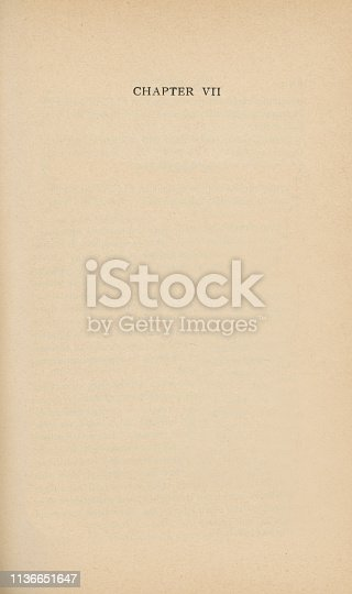 istock Old Page with Chapter VII 1136651647