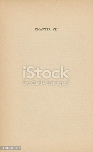 istock Old Page with Chapter VIII 1136651907
