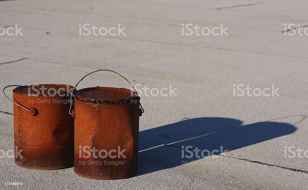 Old Paint Cans royalty-free stock photo