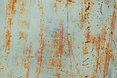 Old paint on rusty metal texture