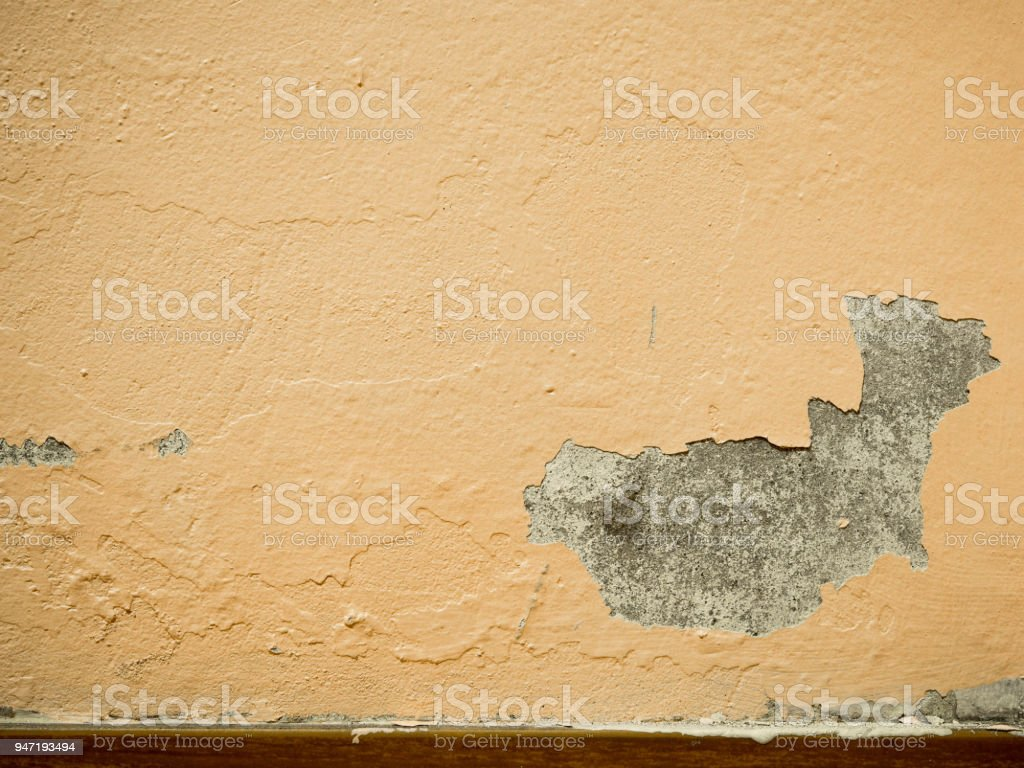 Alte Farbe Peeling Verputzten Wänden Beschädigen Oberfläche Der ...