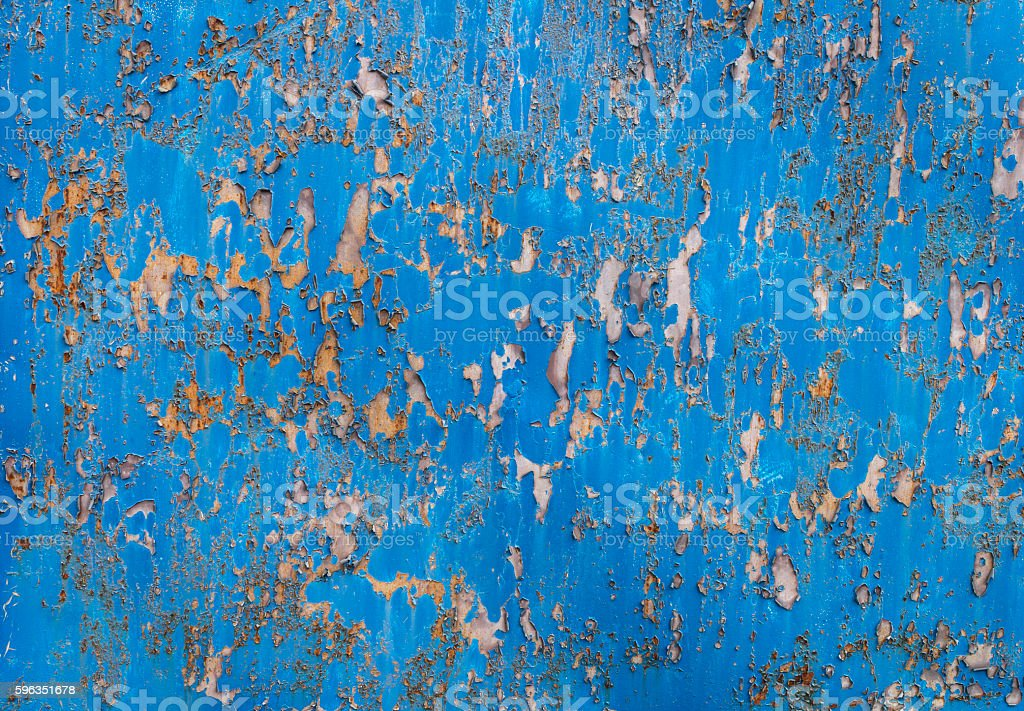 Old, painted blue metal texture Lizenzfreies stock-foto