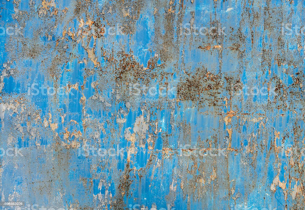 Old, painted blue metal texture royalty-free stock photo
