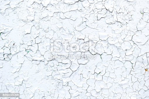 istock Old painted metal with paint peeling off 839433058
