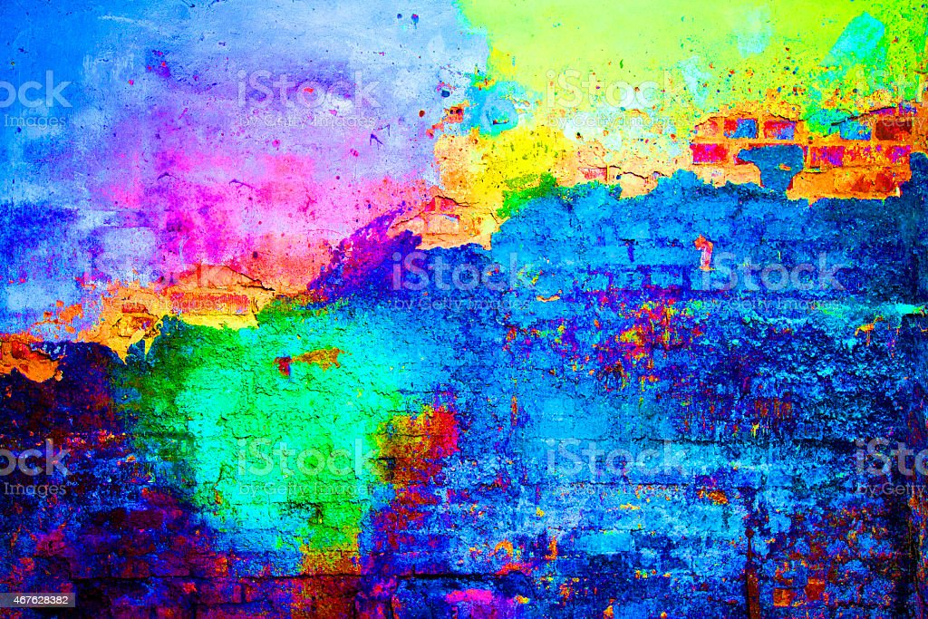 old painted wall stock photo