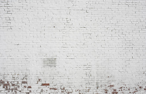 Old painted white Brick wall background pattern design​​​ foto