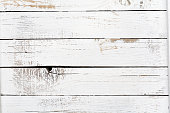 istock Old painted white wood boards background texture 1188697270