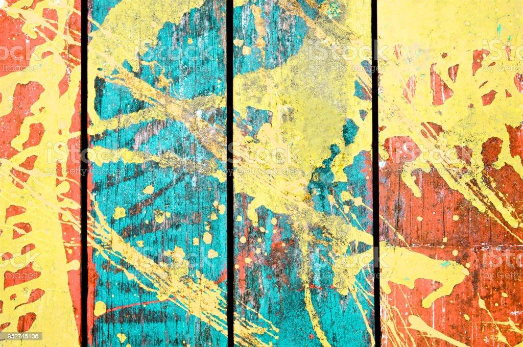 Antigo pintado fundo madeira de mesa ou parede. Verão e vintage. Vista superior. Close-up. - foto de acervo