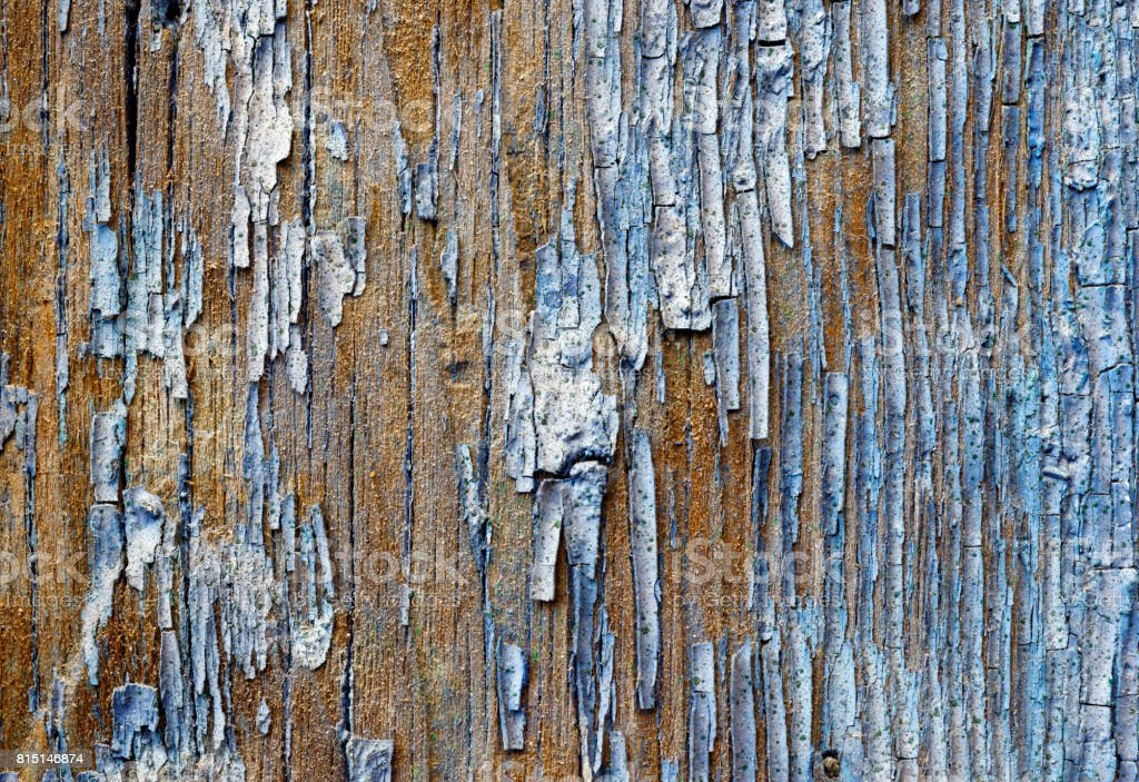 Old painted wooden plank royalty-free stock photo